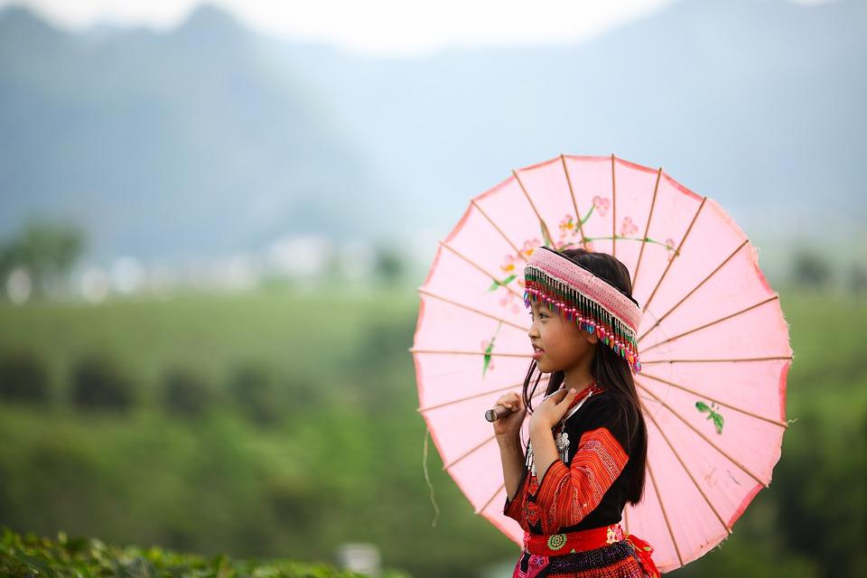 Cute, Portrait, Girl, Outdoor, Beautiful, Vietnamese