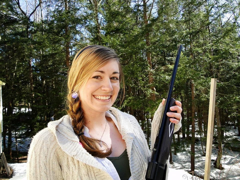 Girl, Gun, Shooting, Hunting, Female, Woman, Weapon
