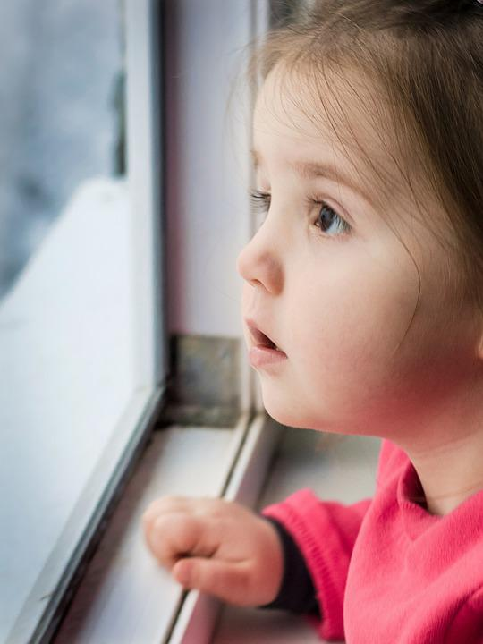 Child, Kid, Window, Girl, Face, Looking