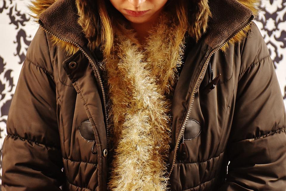 Winter Jacket, Scarf, Wool Scarf, Woman, Girl, Modern
