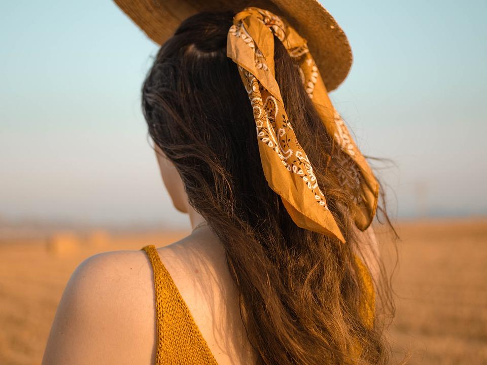 Woman, Back, Hair, Field, Rural, Rustic, Girl, Wheat