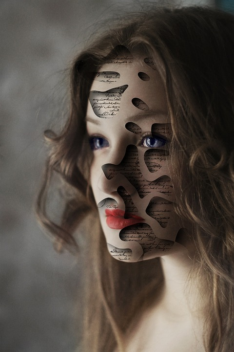 Girl, Portrait, Face, Writing, Cut, Expression