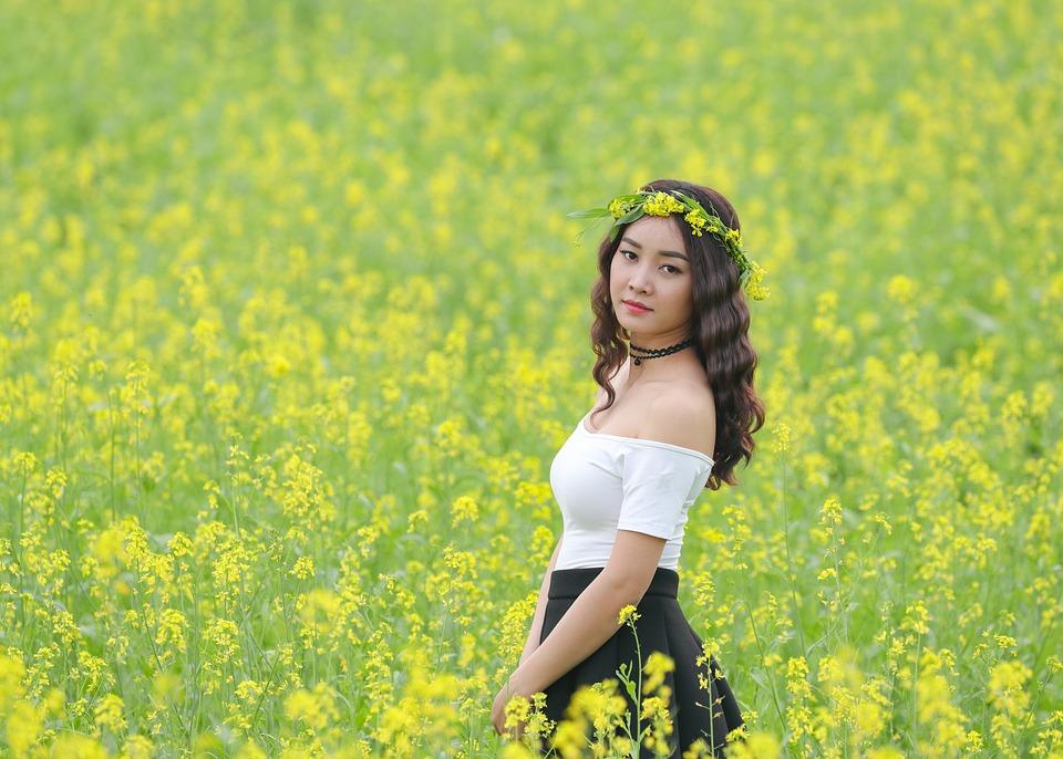 Flower Reform, Yellow, Girl, Asia