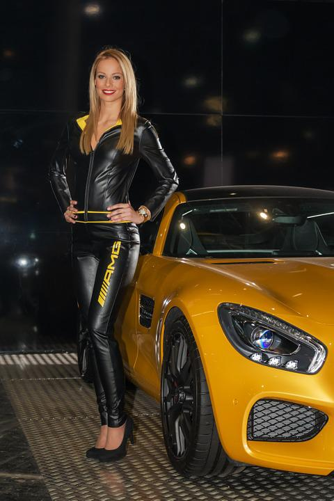 Mercedes, Mercedes-amg Gt, Girl, Lady, Woman, Young