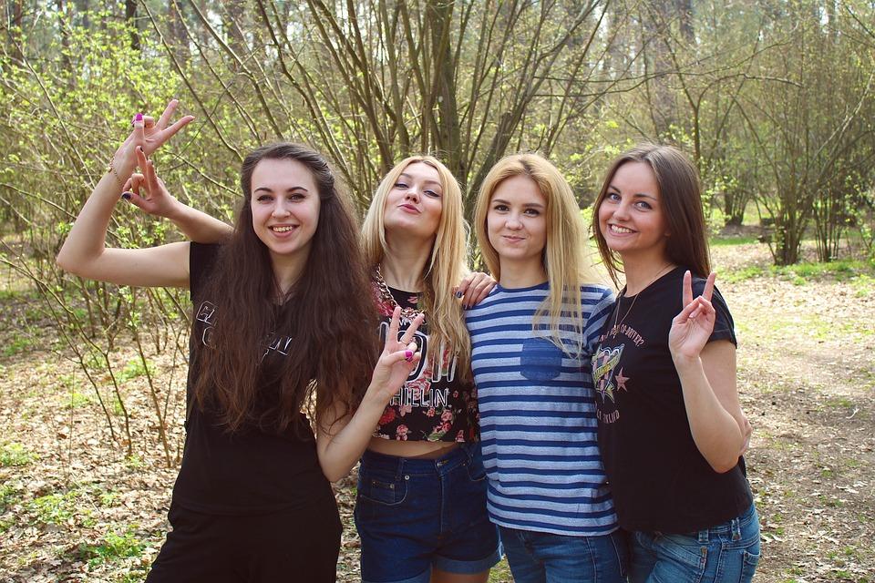 Girls, Friends, Funny Company, Girlfriend