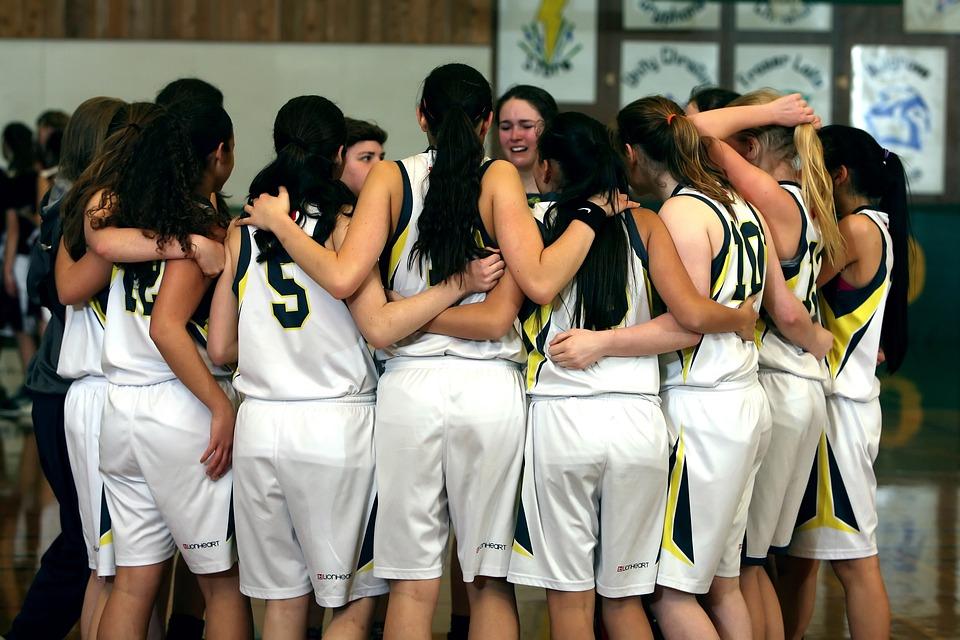 Team, Girls Basketball Team, Girls, Basketball, Sport
