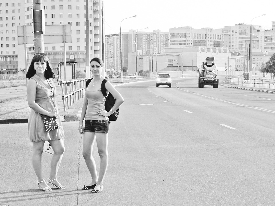 Girls, Summer, Road, Journey