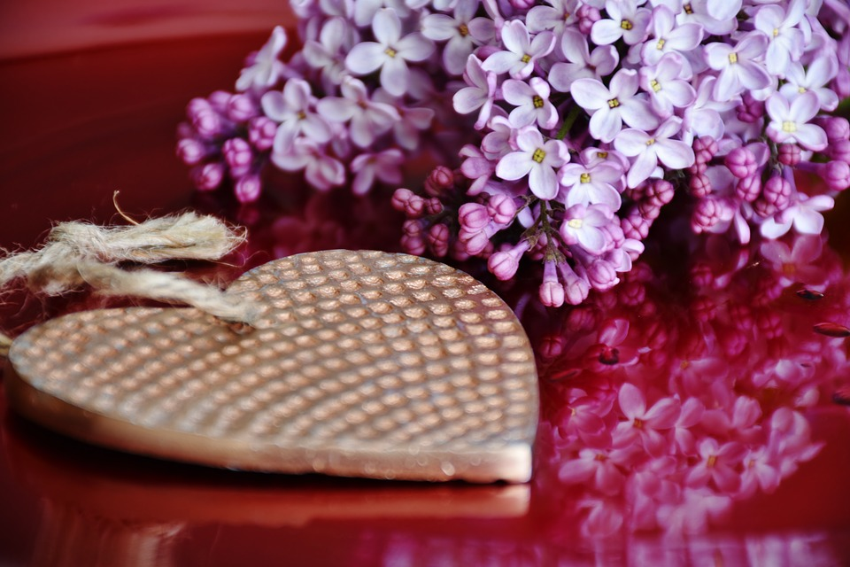 Heart, Lilac, Flowers, Gift, Mother's Day, Give Away