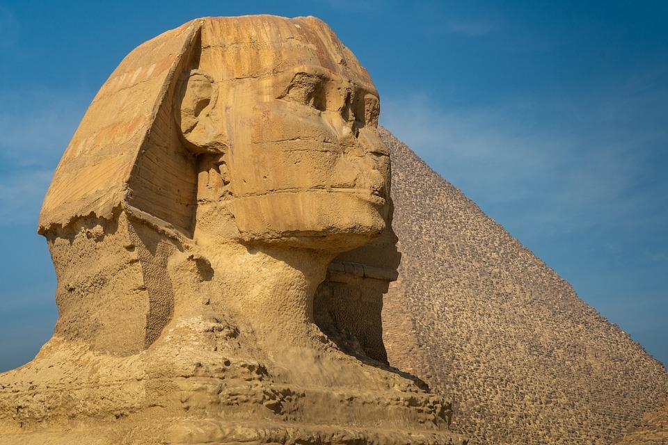 Sphinx, Egypt, Monument, Cairo, Giza, Historical