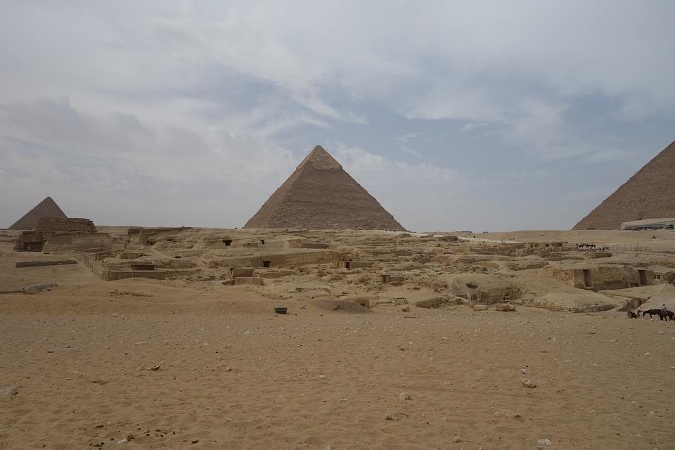 Pyramids, Giza, Egypt, Pyramid, Cairo, Desert, Ancient