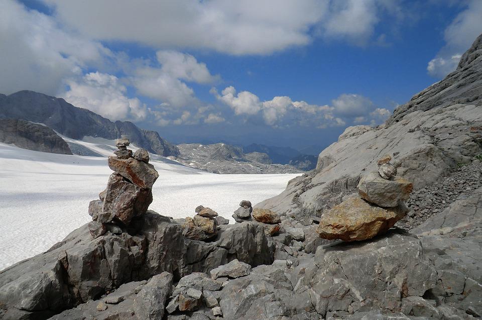 Glacier, Dachstein Glacier, Austria, Mountains, Alpine