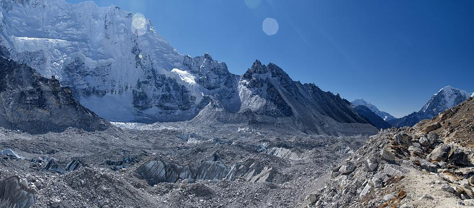 Nepal, Everest, Khumbu, Glacier, Mountain, Himalayas