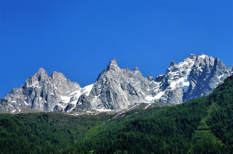 Alpe, Mountain, Top, Panoramic, Snow, Glacier