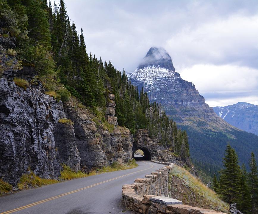 Glacier National Park, Park, Road, National Park
