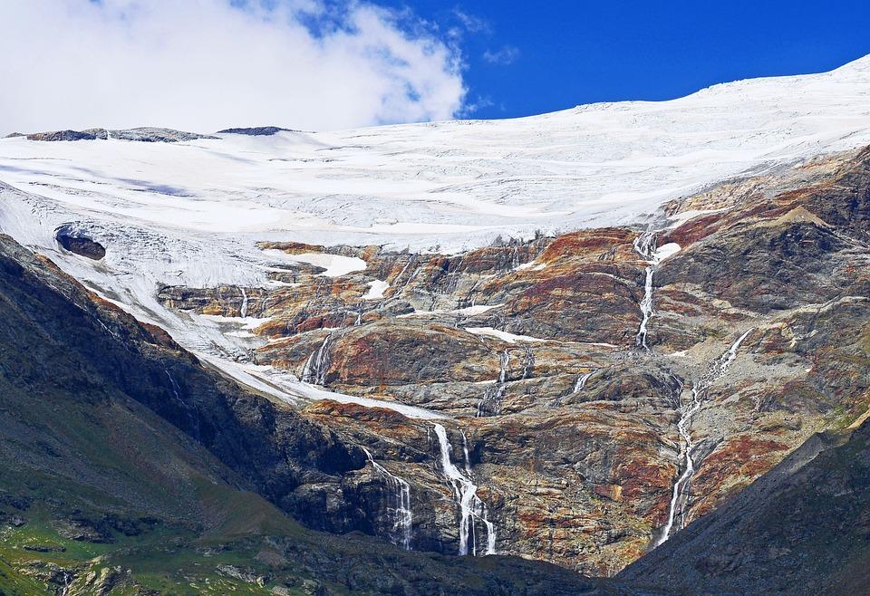 Glacier, Outflows, Glacier Water, Rock, Piz Palu