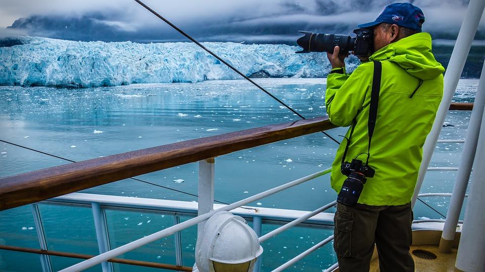 Photographer, Cruise, Alaska, Glacier, Vacations, Ice