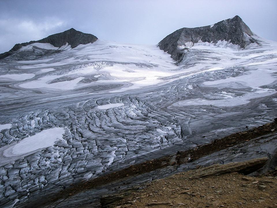 Glacier, Crevasses, Alpine, Rainerhorn, Black Wall