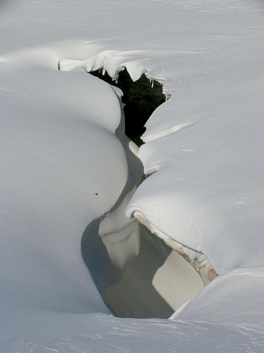 Glacier, Cave, Snowdrift, Entrance, Sneznik