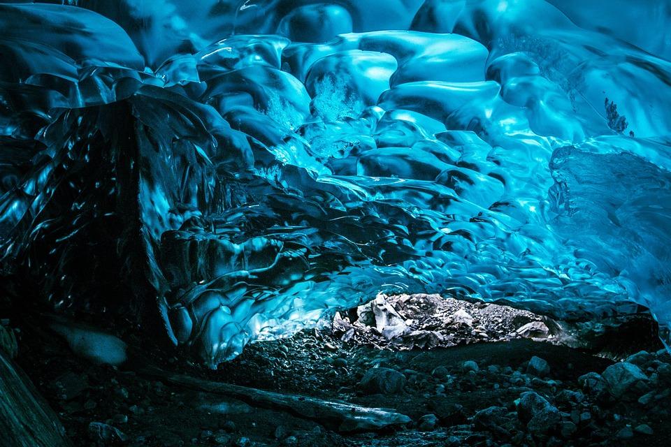 Ice, Frozen, Water, Glacier, Blue, Nature, Translucent