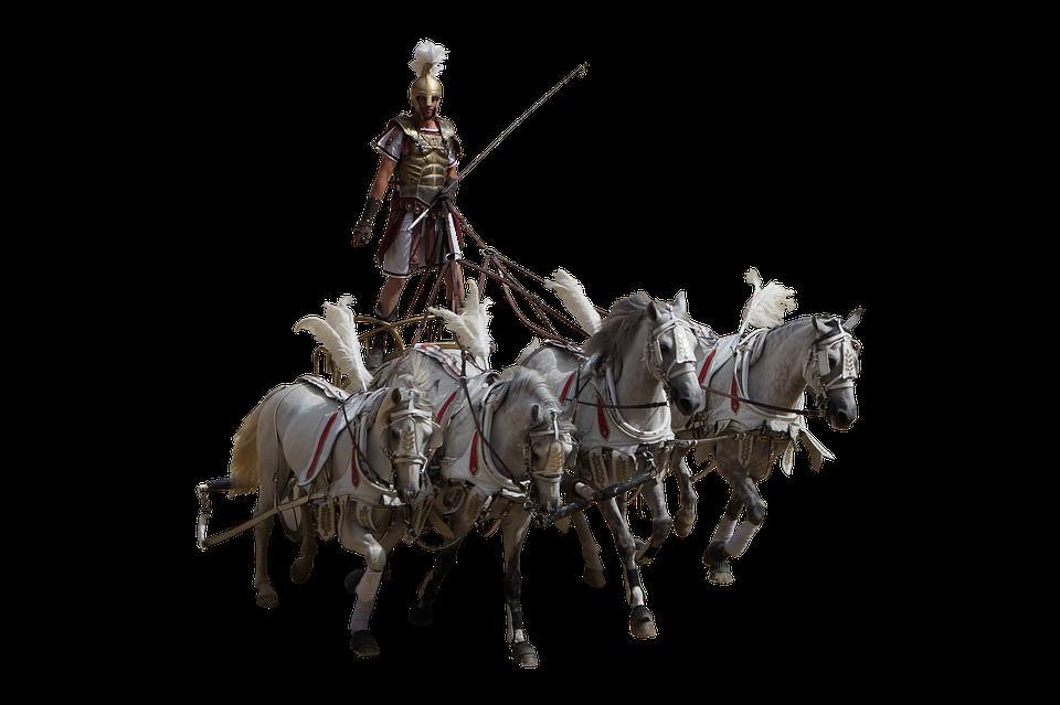 Roman, Char, Antique, Horses, Coliseum, Gladiator