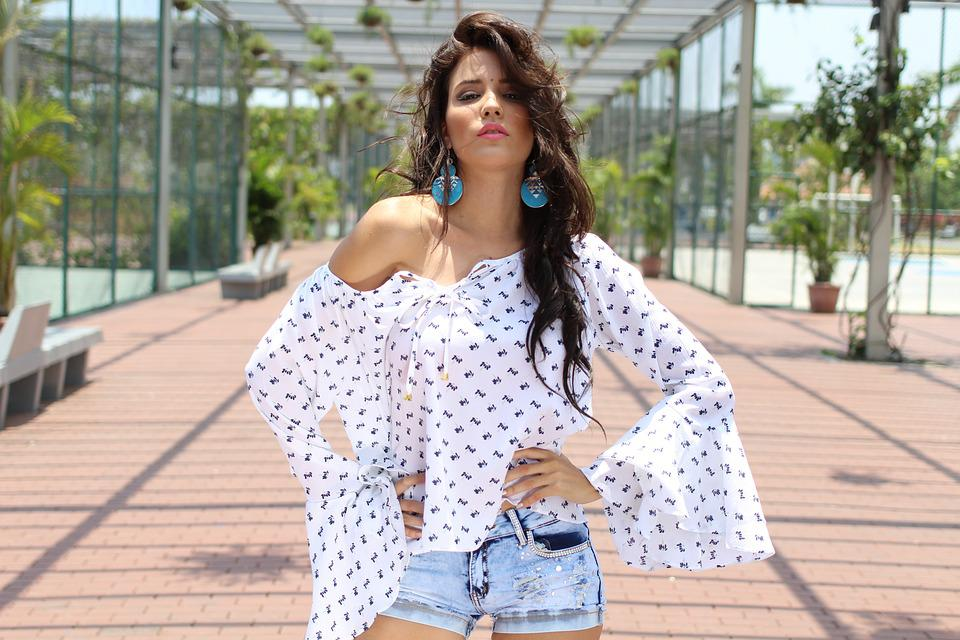 Chic, Glamour, Girl, Woman, Fashion, Blouse, Young