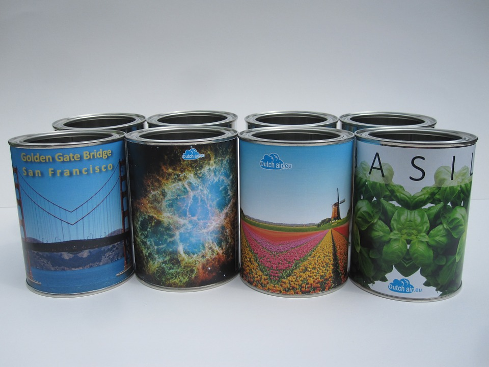 Tin, Cans, Gift, Glance, Container, Metal, White