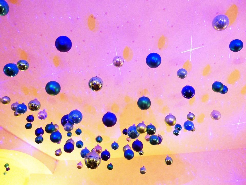 Balls, Christbaumkugeln, Glaskugeln, Blue, Turquoise