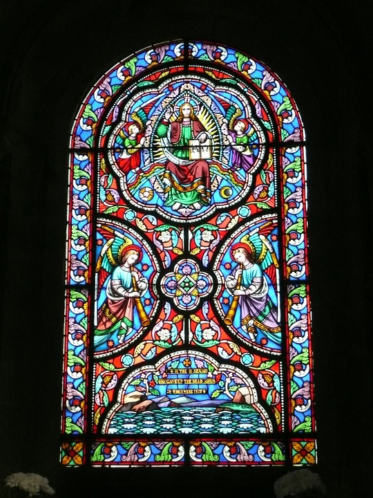 Stained, Glass, Church Window, Architecture, Church