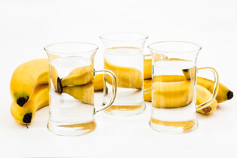 Glass, Drink, Refreshment, Banana, Liquid, Fruit, Water