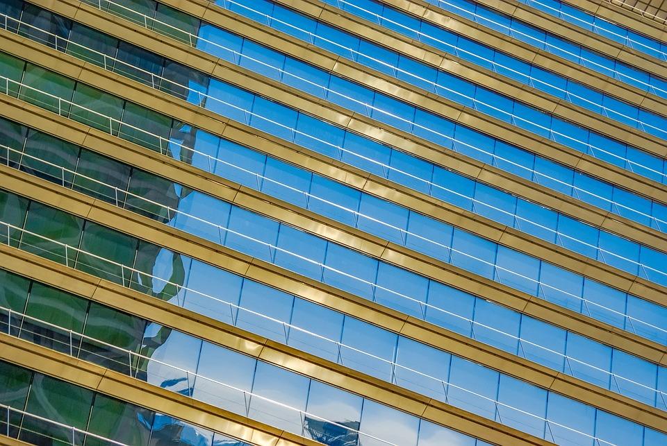 Barcelona, Building, Glass, Architecture