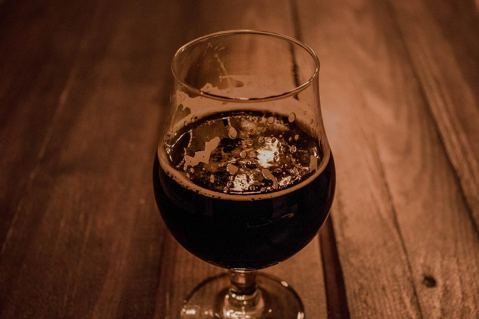 Beer, Glass, Drink, Alcohol, Black, Ale, Wood