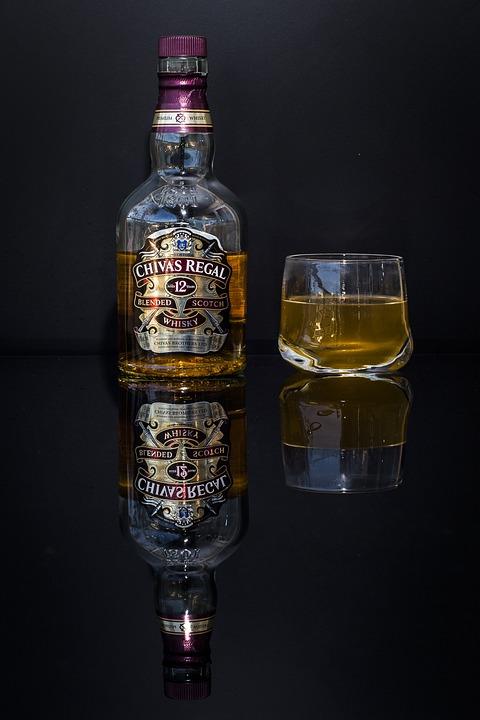 Whiski, Glass, Bottle, Alkohol, Black, Pub, Bar