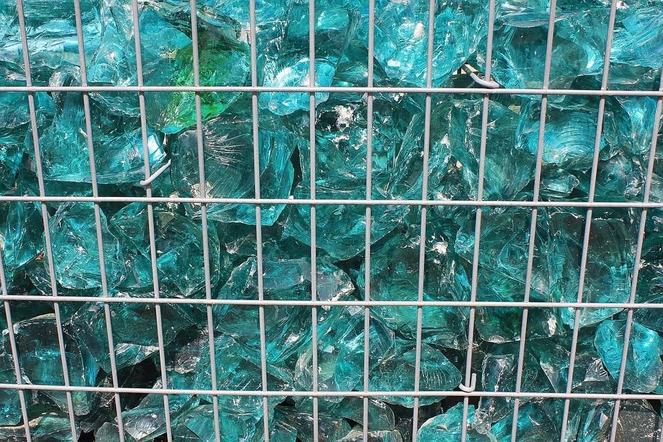 Glass Blocks, Grid, Turquoise, Blue, Shiny, Background