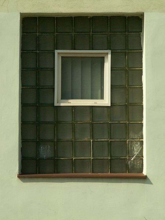 Window, Glass, Bricks, White
