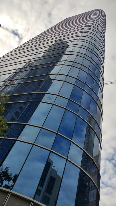 Under Construction, Glass, Building, Tower, Wall