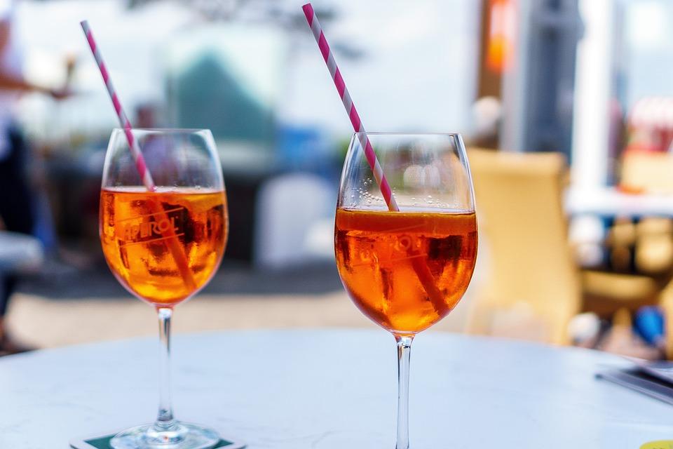 Aperol Spritz, Glasses, Cocktail Glass, Drink, Glass