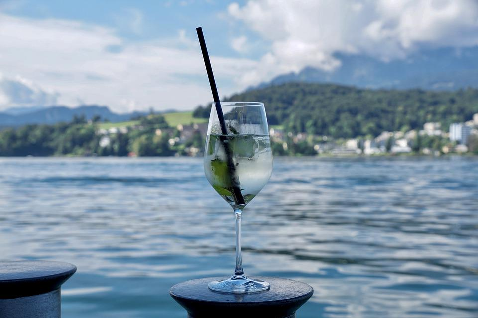 Drink, Shipping, Refreshment, Glass, Water, Lake