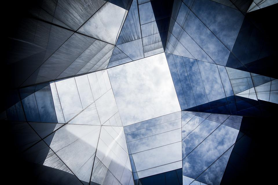 Architecture, Building, Geometric, Glass