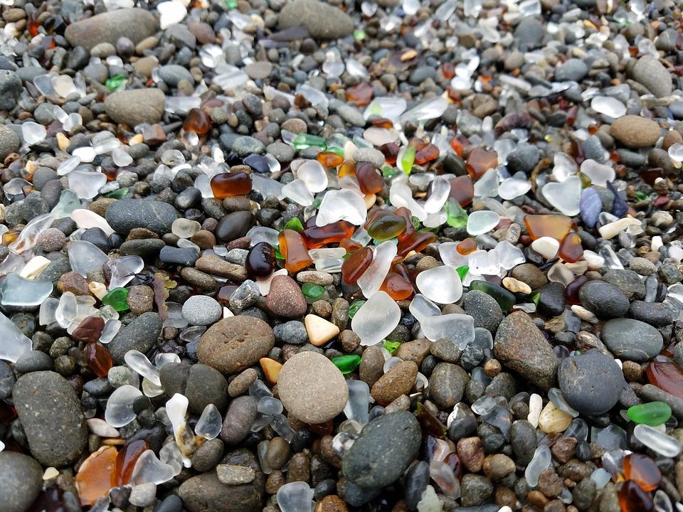 Glass, Beach, Glass Beach, California, Sea, Tourism