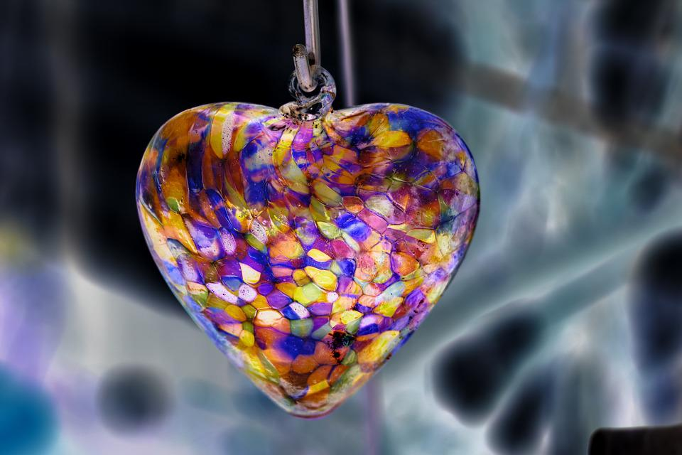 Heart, Image Editing, Love Symbol, Love, Glass Heart