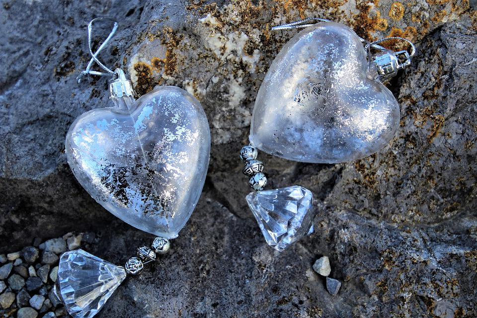Heart, Glass, Transparent, Stone, Nature, Rock