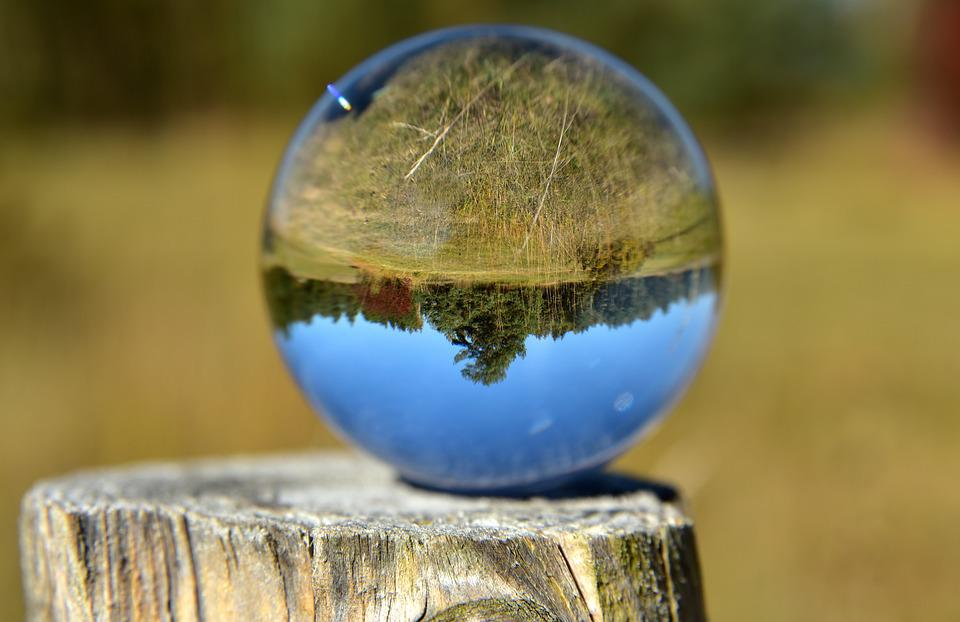 Ball, Glass Ball, Mirroring, Glass, Round, Landscape