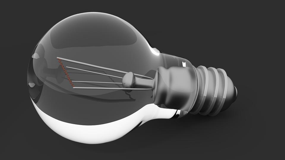 Light Bulb, Light, Lamp, Pear, Glass