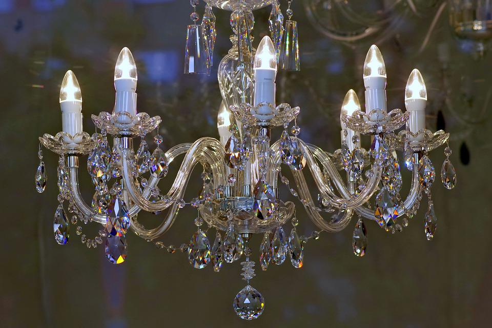 Free Photo Glass Lighting Replacement Lamp Fancy Chandelier Max Pixel - Replacement chandelier glass crystals