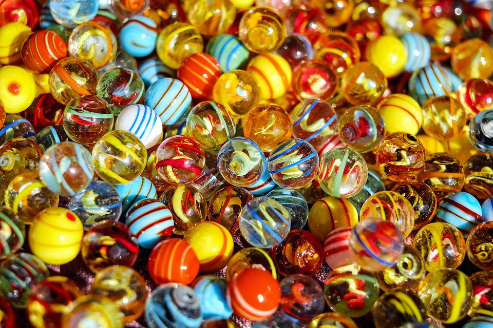 Marbles, Glass Marbles, Balls, Round, Colorful