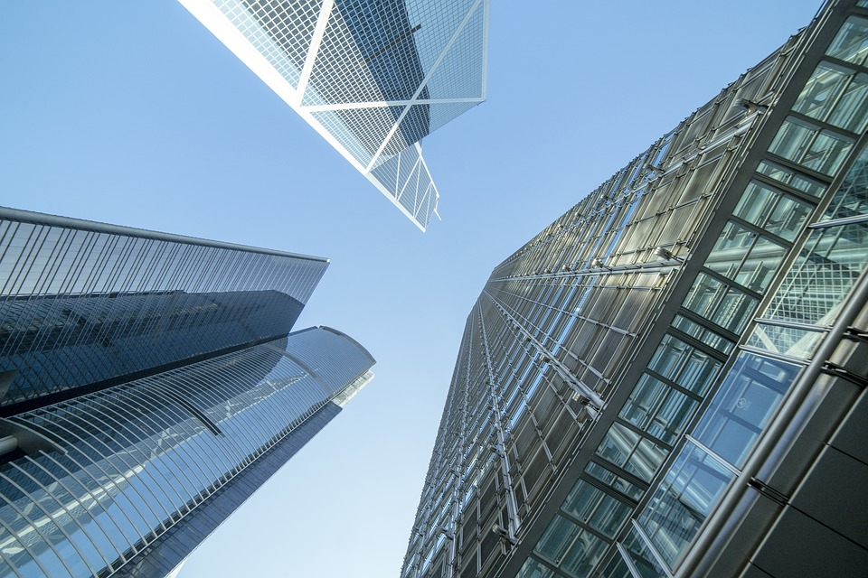 Glass, Office, Building, Commercial, Modern, City