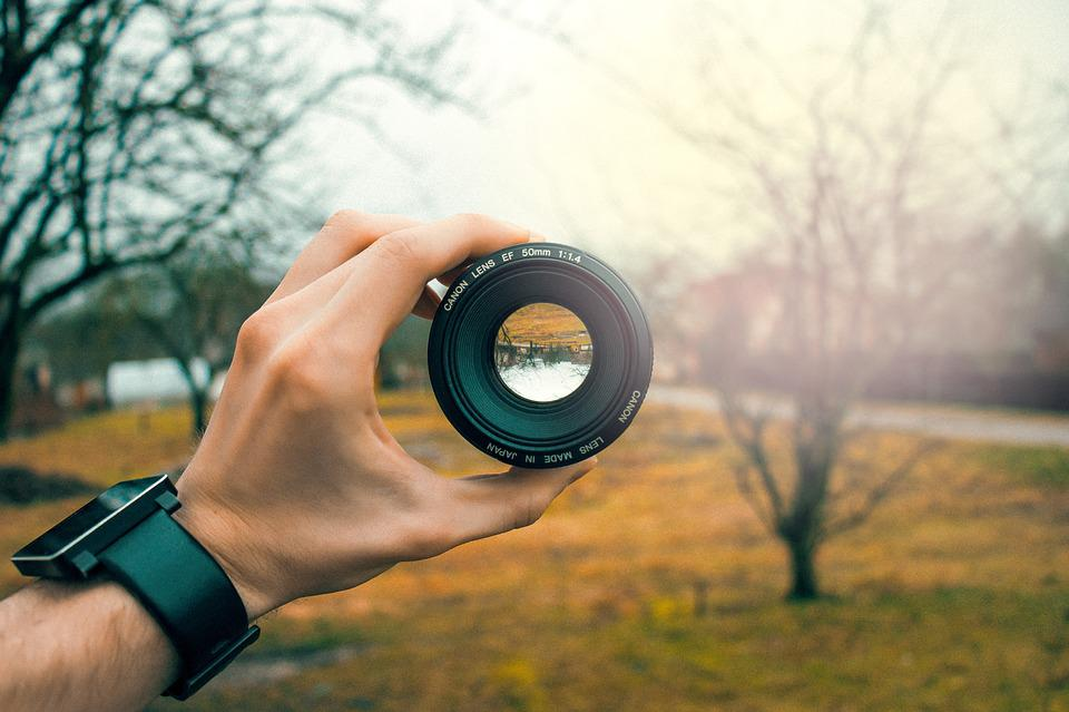Pov, Hand, Lens, Canon, 50mm, Mirror, Glass