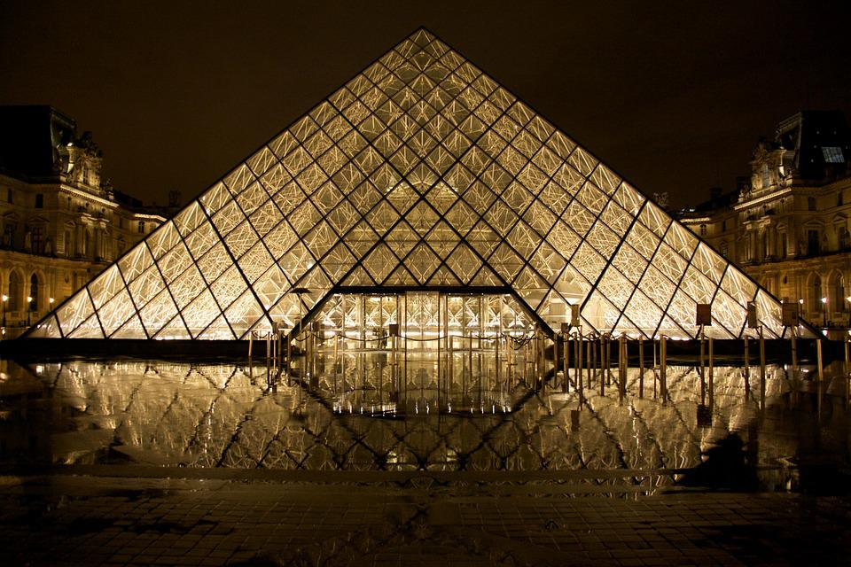 Louvre, Glass Pyramid, Paris, Pyramid, France