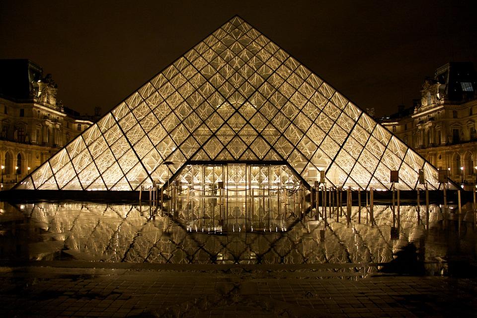 Louvre, Glass Pyramid, Paris, Pyramid, France