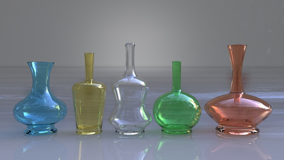 Bottle, Glass, Reflection